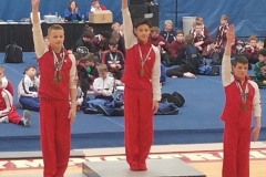 Psymon (1st), Tyson (2nd), Colton (3rd) for the CTC sweep - level 8 - 13-14 All Around